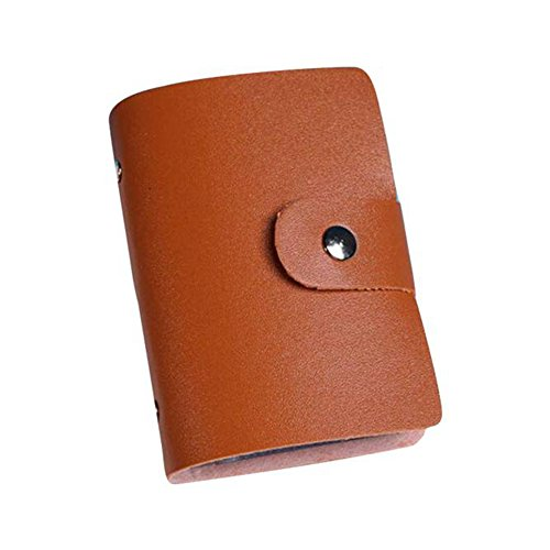 Besde Cute Women Wallet Purse Leather Credit Card Holder Case (Brown)
