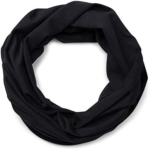 styleBREAKER styleBREAKER Jersey Multifunktionstuch, Schlauchtuch, Stirnband, Haarband, Kopftuch, Loop Schlauchschal, Unisex 01012037, Farbe:Schwarz