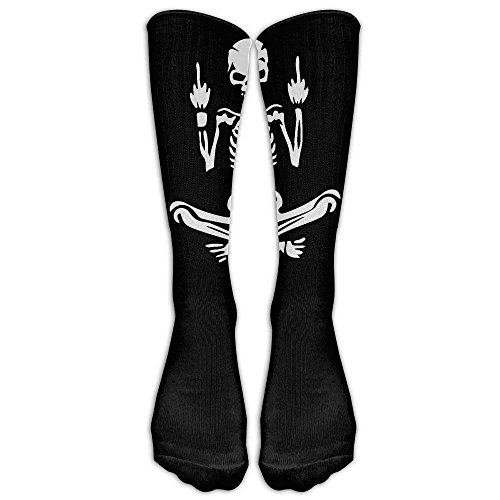 Daisylove Awesome Mittelfinger Skull Classics Strümpfe, Kniehohe Tube Socken, Sport für Männer Frauen