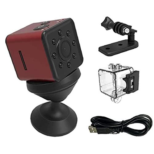 Liadance Cámara inalámbrica SQ13 DV Mini cámara de vídeo con cámara de visión Nocturna de Movimiento Activado para Deportes al Aire Libre DV del Ministerio del Interior Rojo