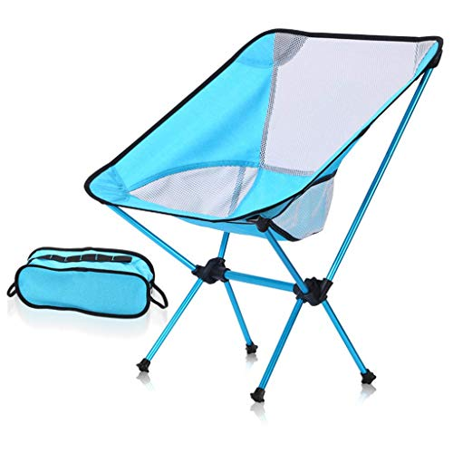 WK Im Freien beweglichen Backpacking Camping Stuhl- Leichtklappliegestühle in Carry Bag 330 Lbs Kapazität Compact for Outdoor-Camp, Reise, Picknick, Wandern, A Blau lili (Color : A Blue)