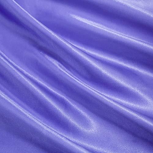 MUYUNXI Tela De Raso Forro De Tela para Vestidos De Novias Fundas Artesanas Vestidos Blusas Ropa Interior 150 Cm De Ancho Vendido por Metro(Color:Azul prpura)