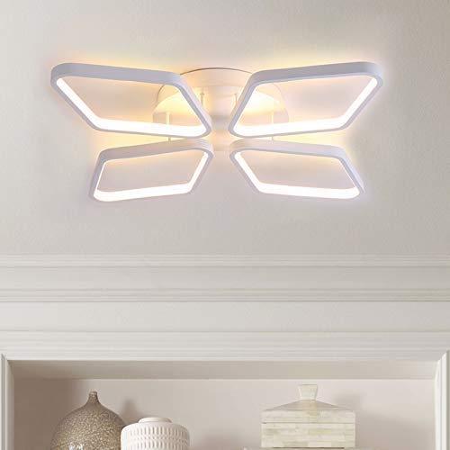 ZAKRLYB. White Diamond LED bianco caldo 3000KLight soffitto Lamp40W luce del pendente luce di soffitto Con telecomando della luce di soffitto del lampadario a bracci di illuminazione largo 53 cm 53