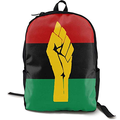 XCNGG NiYoung Laptop Backpack Business Thin and Durable Travel Backpack - University Men and Women Computer Bag - Black Power Pan African Flag