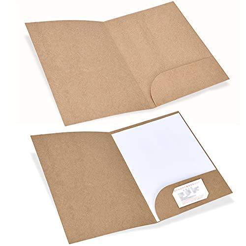 [FUPUTWO] 個別フォルダー ファイルケース A4 クラフト紙 セット 持ち運び 書類入れ (10枚セット)
