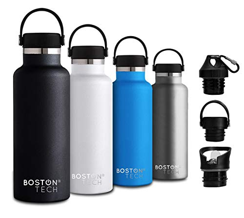 Boston Tech SP2 Botella de Agua Acero Inoxidable con Doble P