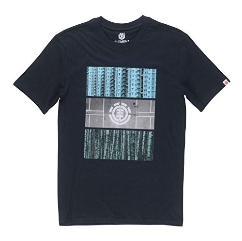 Element Parallel SS Tee Shirt Homme, Flint Black, FR : S (Taille Fabricant : S)