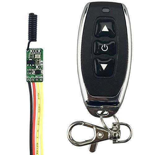 Interruptor remoto de motor ultra pequeño de 3,7 V, 4,5 V, 5 V, 6 V, 7,4 V, 9 V, 12 V, mini motor, avance hacia atrás y parada, función microinterruptor ASK