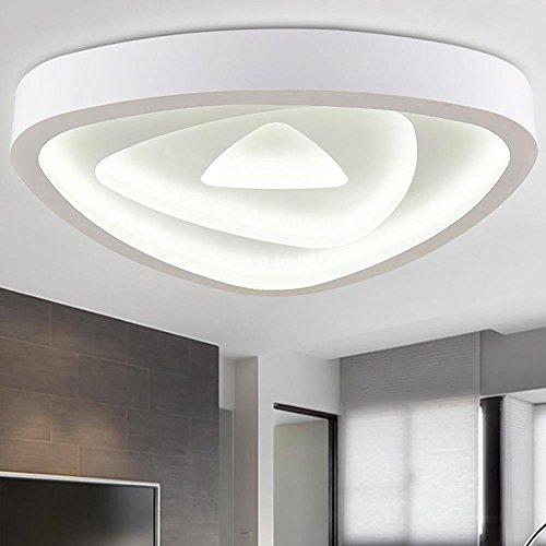 NIHE 85W LED Plafonnier blanc moderne Individualité Simple Plafonnier créatif Ajustable Salon de la maison Chambre Diamètre de la lampe 80CM 180-260V