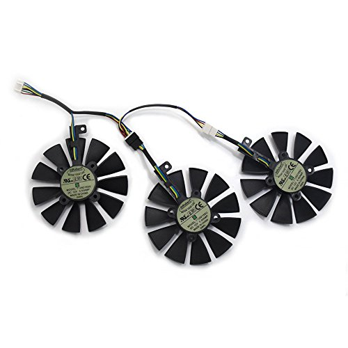 InRobert T129215SU - Ventola di raffreddamento per scheda video ASUS STRIX GTX980Ti/R9390/RX480/RX580 (Fan-ABC)