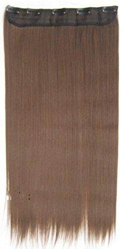 JM-Fashion-Supply Lot de 5 clips de 60 cm de long pour extensions de cheveux en fibre thermique 2 - - Chocolat 8#, 60