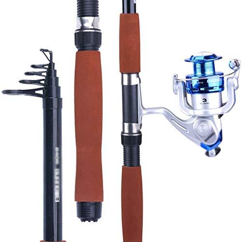 MGIZLJJ Fishing Rod Kit Fishing Pole Telescopic Fishing Rod and Reel Combos with Spincast Fishing Reel and String with Fishing Line (Size : 3.6M/8Festival)