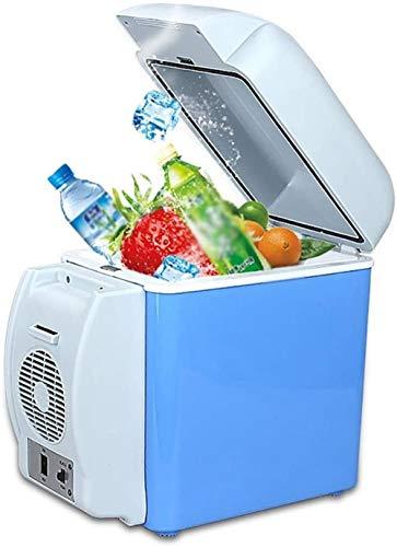 PULLEY Refrigerador de coche pequeño camping eléctrico refrigerador, bebidas de cerveza portátil para dormitorio/cosméticos/medicamentos/familia/refrigeradores de viaje (color: A, tamaño: 12v)