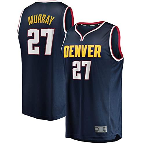 PAKUES-QO Chalecos De Baloncesto Al Aire Libre Uniforme Jamal Denver No.27 Navy, Nuggets Murray Youth Fast Break Player Jersey Regalos para Niños-Icon Edition