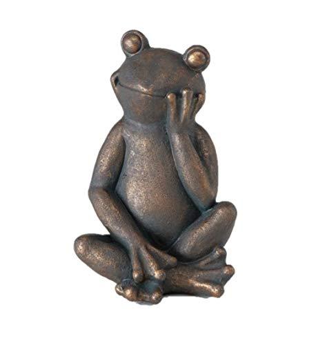 Boltze Figur Frosch Jay, Magnesia, Dunkelbraun, Höhe 41 cm, Gartendeko
