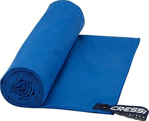 Cressi Microfibre Fast Drying Beach Toalla de Sport y de Playa, Unisex Adulto, Azul, 160 x 80 cm