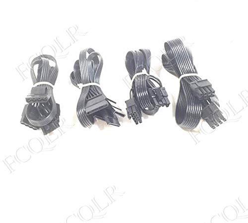FCQLR for Tiger Wire Antec HCG-520M HCG-620M Module Power Cord SATA Hard Drive IDE Graphics Card, 0.6m