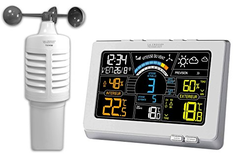 La Crosse Technology WS6860WHI-SIL - Estación meteorológica con anemómetro, plástico