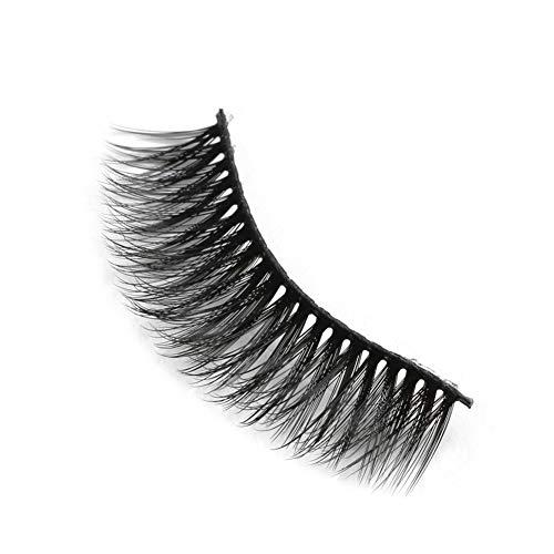 Weixinbuy Faux Cils Naturel Densité Curling Faux Cils 10 Paires 3D Maquillage Cils Extension