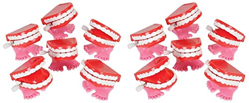 Happy Deals~ Wind Up Chattering Teeth   12 Pack   1.75 inch Chatter Walking Teeth