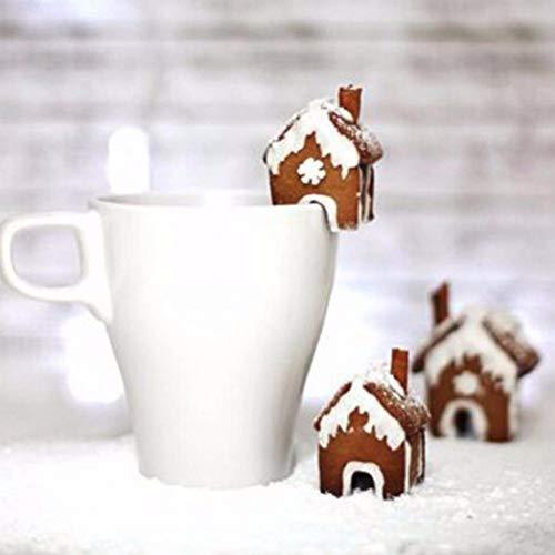 Beito Serie De Navidad 3pcs Acero Inoxidable De DIY 3D Cortador De La Galleta del Pan De Jengibre Casa De La Galleta del Molde Pasta De Azúcar Que Adorna Las Herramientas