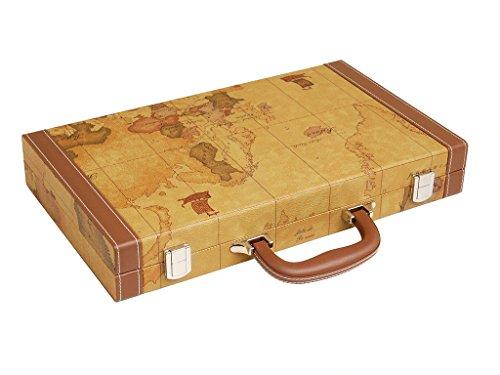 Middleton Games Set da Backgammon Mappa Elegante da 38 cm - Tavola Marrone