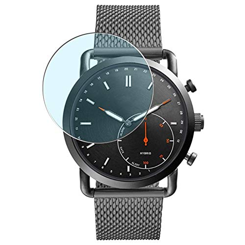 Puccy 3 Pack Anti Blue Light Screen Protector Film, Compatible with Fossil Q Commuter Hybrid FTW1161 smartwatch TPU Guard ( Not Tempered Glass Protectors )