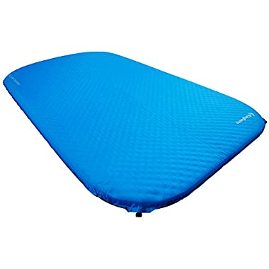 KingCamp DELUXE Series Thick Self-Inflating Camping Pad (Blue, DELUXE DOUBLE)
