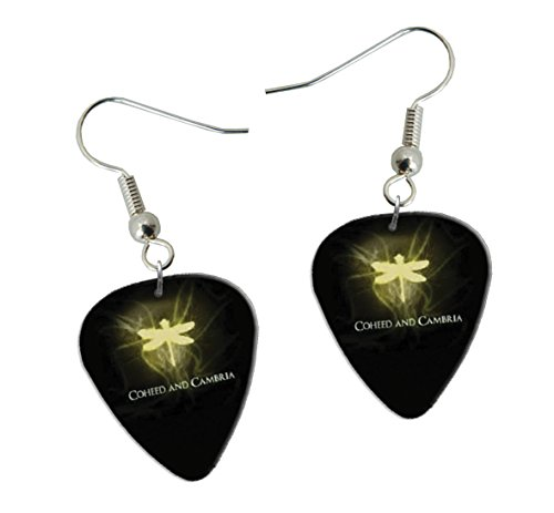 Coheed & Cambria Guitarra Plectro Earrings Pendientes (F1)