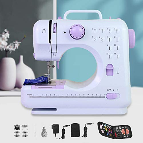 Sewing Machine for Beginners Mini Portable Small Electric Household Sewing Machine - 12 Kinds of Built-in Stitches, Easy to Use and Store, Bring Convenience to Life