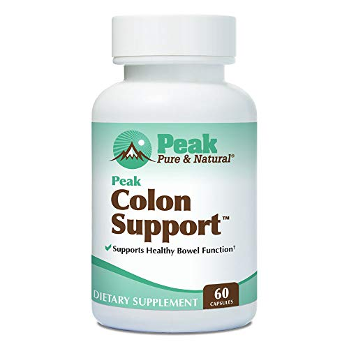 Peak Colon Support from Peak Pure & Natural® Colon Support Supplement for Men and Women | Colon Cleanser and Bowel Movement Supplement for Digestive Health | Colon Detox and Cleanse | 60 Capsules