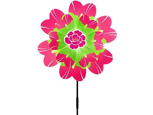 HAFIX windmolen windmolen bloem tuindecoratie 3D Rosa Grün