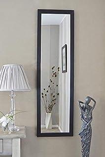 MirrorOutlet Espejo de Pared Grande con diseño contemporáneo Color Negro 130 cm x 38 cm