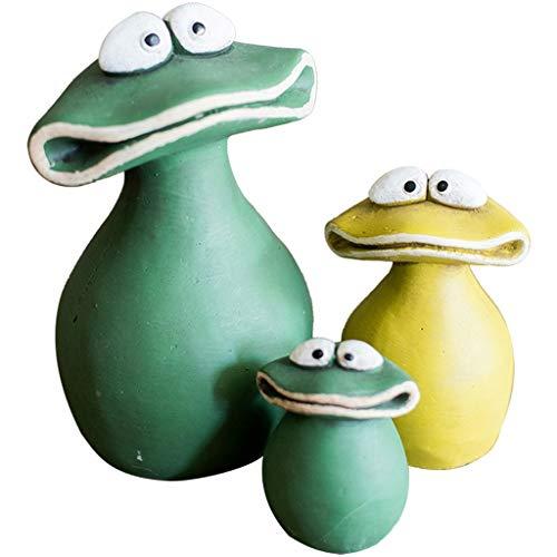 wanhaishop Desktop-Dekorationen Gartendeko Willkommen Statue Nette Frosch Familie, for Außenterrasse Ornament Yard Kunst Figuren Dekorationen Frosch Familie Ornamente