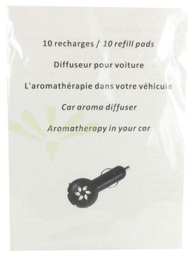 10 recharges buvard pour diffuseur prise et voiture.
