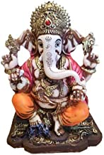"RK Collections 6.25"" Lord Ganesh Statue/Ganesha Statue Multicolor Antique Finish"