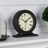 FirsTime & Co. Antolini Tabletop Clock, 5.5'H x 5'W, Black