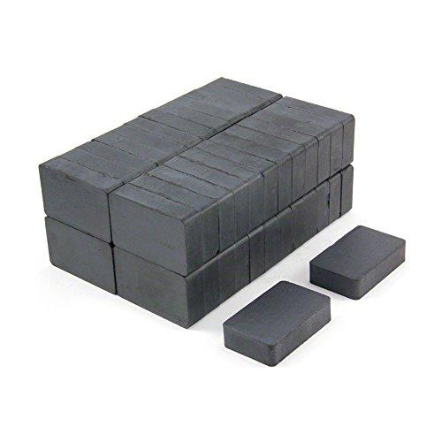 Magnet Expert 40 x 25 x 10 mm d'épaisseur Y30BH Ferrite Magnet - 3 kg Pull (paquet de 50)