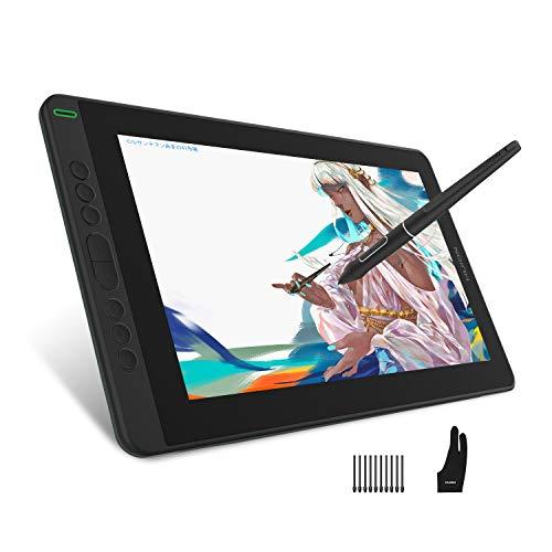 HUION Kamvas 13 Tableta Gráfica con Pantalla, Nuevo Monitor de Dibujo Gráfico 2020 con Pantalla Laminada Completa de 13,3 Pulgadas, Lápiz PW517, Compatible con Dispositivo Android (sin Soporte)