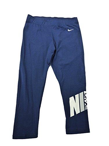 Nike Graphic Damen Leggings Capri Hose Sporthose Fitnesshose blau S