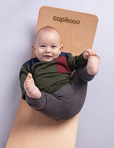 Capikooa wooden curvy balance board - Explorer size (premium kids wobble board) …