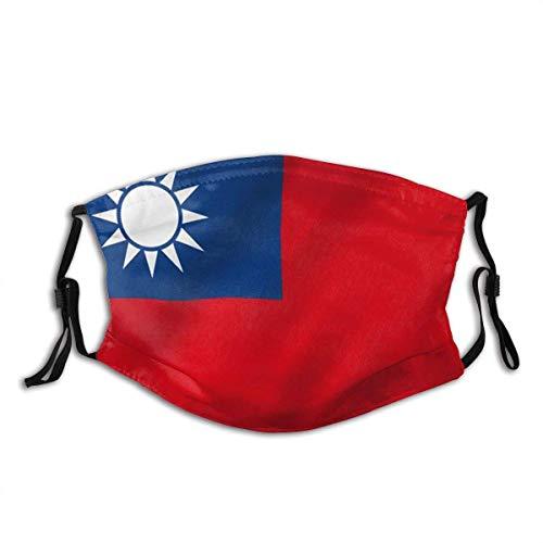 Gooeyokoi Mundschutz Gesichtsschutz Taiwan Flagge Republik China Flaggen Waschbar Atmungsaktive Staubdicht Schutz Bandana Schal mit Filter