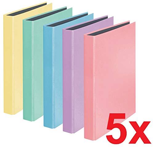 PastellColor-Ordner (farbig sortiert 5er, Ringbuch)