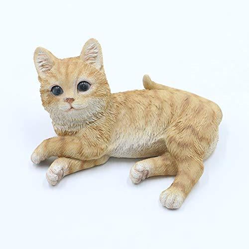 Bambelaa! Statuetta da giardino a forma di gatto, in poliresina, per interni ed esterni, altezza circa 14,5 cm