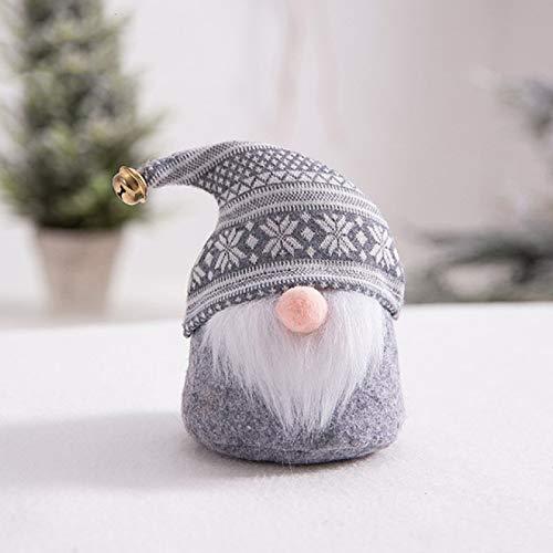 JMJY Muñeca enana del Día de San Valentín de la barba blanca decoración encantadora sin rostro muñeca de tela de punto sombrero sin cara muñeca 1 pieza