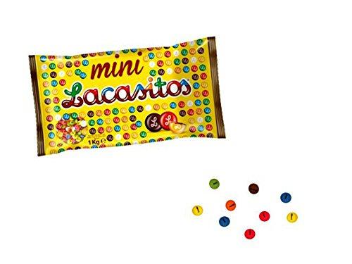 Zakje met 1 kg minilakstiften in de kleur met chocolade. Goedkoop speelgoed en geschenken voor verjaardagen, huwelijk, doop, communie en evenementen.