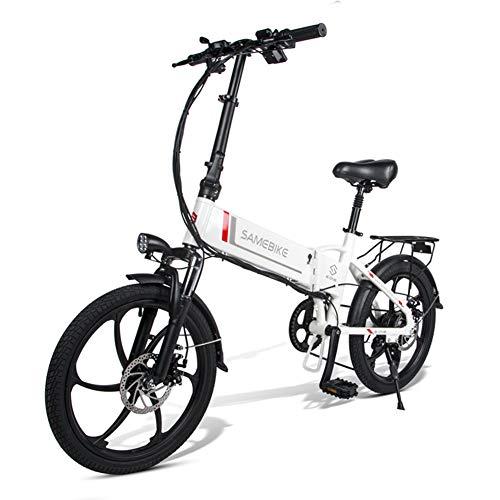 WFIZNB 20 Zoll E-Bike Pedelec E-Bike Klapprad klappfahrrad 48V 10.4Ah/ 36V 8AH Lithium Akku, 7-Gang Getriebe, Leicht und Praktisch,Weiß