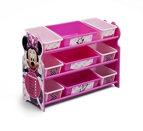 Delta Children 9 Bin Plastic Organizer, Disney Minnie Mouse
