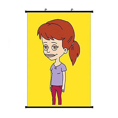 Rick & Mor-t-y & Anime Big Mouth Netflix Ji -ï¼?ï¼?Anime Living Room Bedroom Home Decoration Gift Fabric Wall Scroll Poster (16x24) Inches