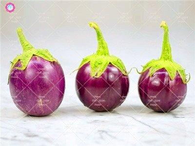 100pcs rond noir Aubergine Graines semences de légumes Heirloom biologique Plantes non-OGM pour le jardin bon goût riche en vitamines 7